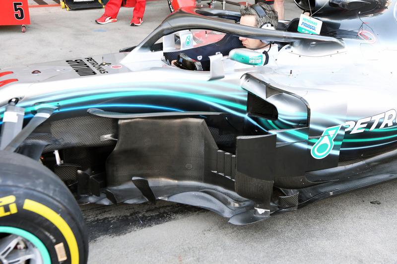 Mercedes AMG F1 W09 detalle bargeboard