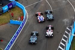 Felix Rosenqvist, Mahindra Racing, Nelson Piquet Jr., Jaguar Racing,Mitch Evans, Jaguar Racing, Maro Engel, Venturi Formula E Team