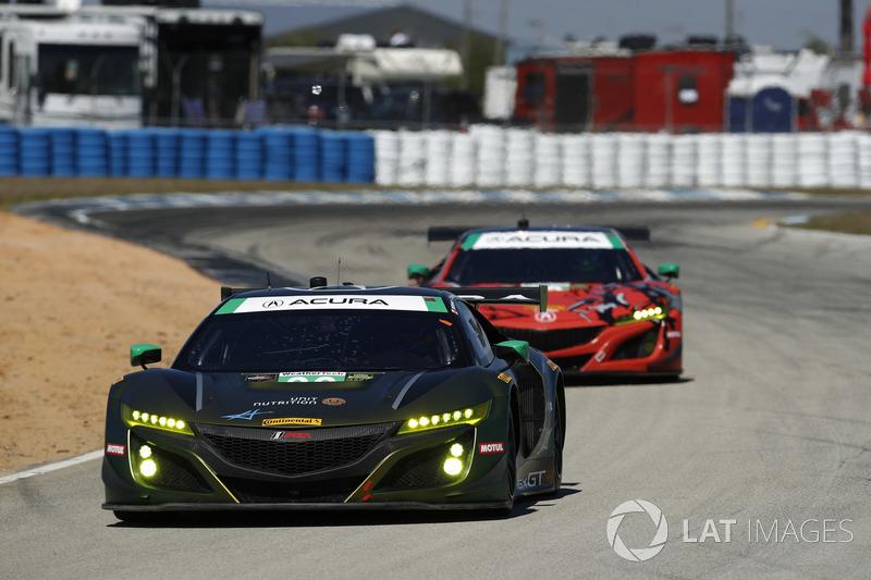 #36 CJ Wilson Racing Acura NSX GT3, GTD: Marc Miller, Till Bechtolsheimer, Kuno Wittmer, #93 Michael
