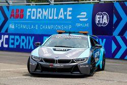Alejandro Agag, CEO, Formula E drives Actress Liv Tyler around the circuit