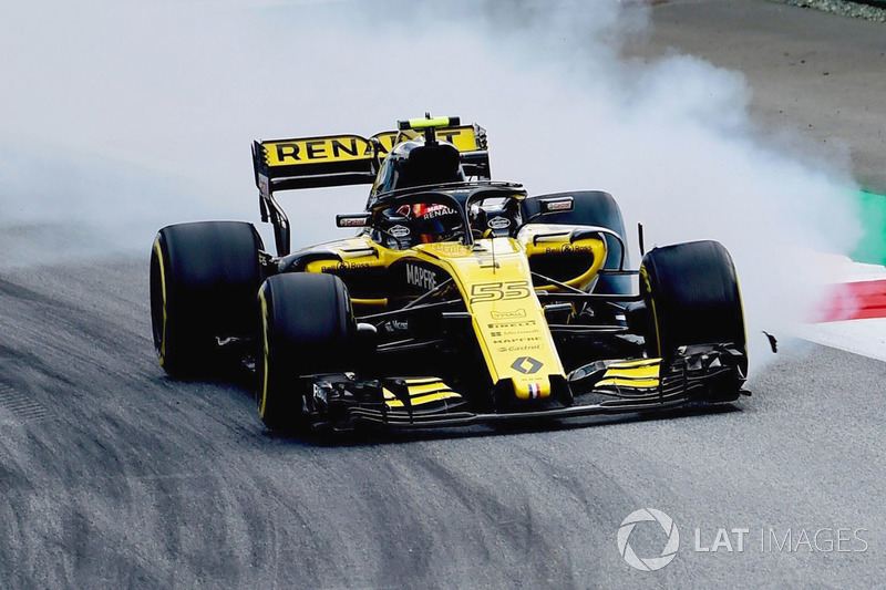 9. Carlos Sainz Jr., Renault Sport F1 Team R.S. 18 locks up