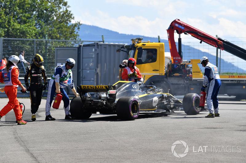 Nico Hulkenberg, Renault Sport F1 Team R.S. 18 retirada