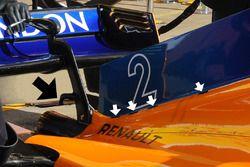 McLaren MCL33, dettaglio della carrozzeria posteriore