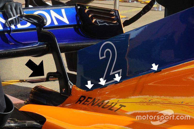 Задняя часть кожуха McLaren MCL33, фрагмент