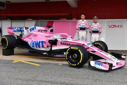 Esteban Ocon, Sahara Force India F1 and Sergio Perez, Sahara Force India, the new Sahara Force India