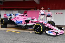 Esteban Ocon, Sahara Force India F1 and Sergio Perez, Sahara Force India, the new Sahara Force India