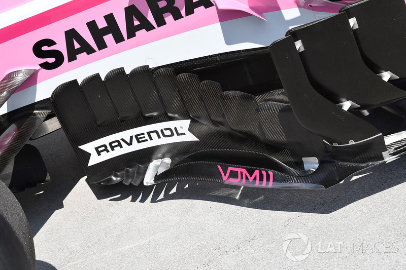 Force India VJM11 barge board detail