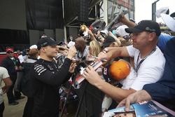 Valtteri Bottas, Mercedes AMG F1, signs autographs for fans