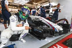 Felipe Massa, Williams, señala el nombre Nathaniel Harris el hijo recién nacido de Claire Williams,