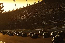 Cole Custer, Stewart-Haas Racing Ford leads the field into the sunset