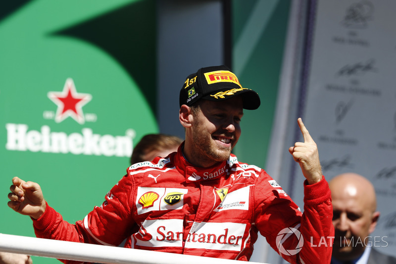 Sebastian Vettel mounts a challenge in 2017