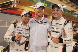 LMP1 pole sitters Neel Jani, Andre Lotterer, Nick Tandy, Porsche Team