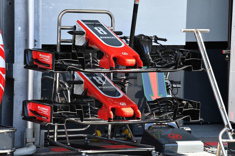 Haas F1 Team VF-18 burun ve ön kanat