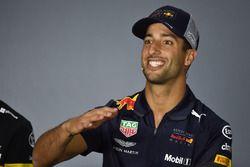 Daniel Ricciardo, Red Bull Racing en la rueda de prensa