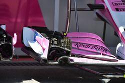 Vue détaillée de l'aileron avant de la Force India VJM11