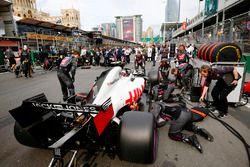El coche de Kevin Magnussen, Haas F1 Team VF-18 Ferrari