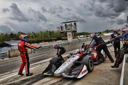Graham Rahal, Rahal Letterman Lanigan Racing Honda, pitstop