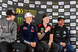 Persconferentie: Timmy Hansen, Team Peugeot Total, Robin Larsson, Olsbergs MSE, Petter Solberg, PSRX Volkswagen Sweden