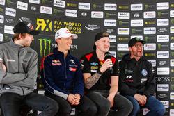 Conferencia de prensa: Timmy Hansen, Team Peugeot Total, Robin Larsson, Olsbergs MSE, Petter Solberg, PSRX Volkswagen Sweden