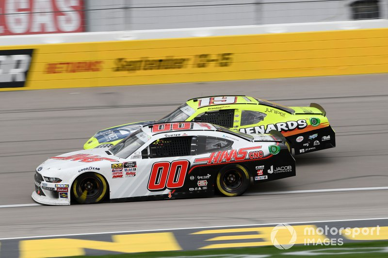 Cole Custer, Stewart-Haas Racing, Ford Mustang Haas Automation, Brandon Jones, Joe Gibbs Racing, Toyota Supra Menards/Jeld-Wen
