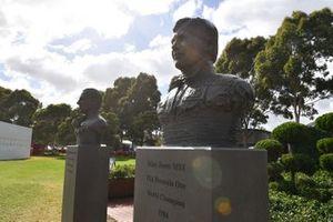 Busts of Australian Formula 1 World Champions Sir Jack Brabham and Alan Jones