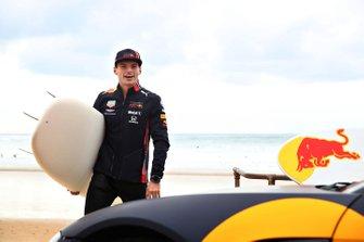 Max Verstappen, Red Bull Racing, se préparer à aller surfer