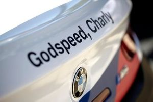 Godspeed, Charly on the car of #42 BMW Team Schnitzer BMW M6 GT3: Augusto Farfus, Chaz Mostert, Martin Tomczyk