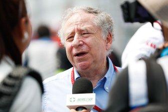 Jean Todt, FIA President talks to the press