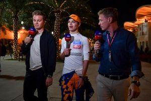 Nico Rosberg and Simon Lazenby, Sky Sports F1, interview Lando Norris, McLaren