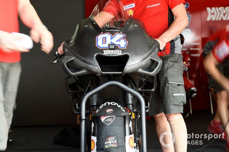 Le nouveau carénage de la Ducati