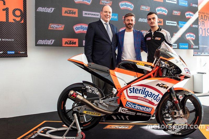 HSH Principe Alberto di Monaco, Max Biaggi, Aron Canet, Max Racing Team