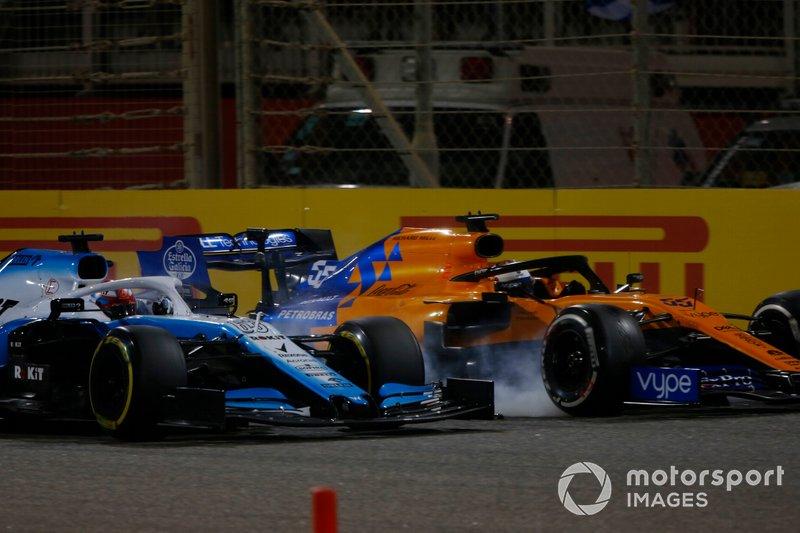 Джордж Расселл, Williams Racing FW42, Карлос Сайнс-мол., McLaren MCL34