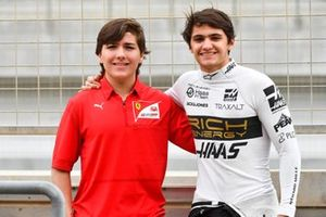 Pietro Fittipaldi, Haas F1 Team, with younger brother Enzo Fittipaldi