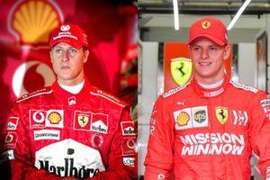 Michael Schumacher 2004, Mick Schumacher 2019, Ferrari