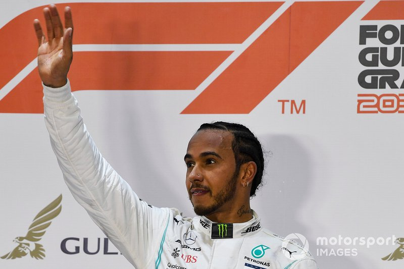Lewis Hamilton, Mercedes AMG F1, 1st position, on the podium