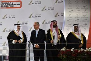 Les membres de la famille royale de Bahreïn sur le podium