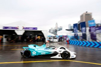 Tom Dillmann, NIO Formula E Team, NIO Sport 004 passes through the pit lane