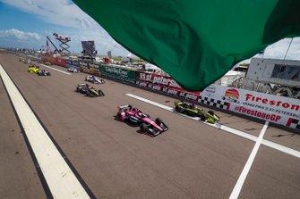 Jack Harvey, Meyer Shank Racing with Arrow SPM Honda, Charlie Kimball, Carlin Chevrolet