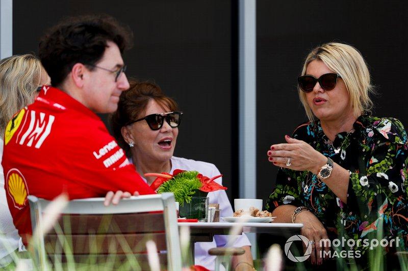 Mattia Binotto, Team Principal Ferrari, Corinna Schumacher