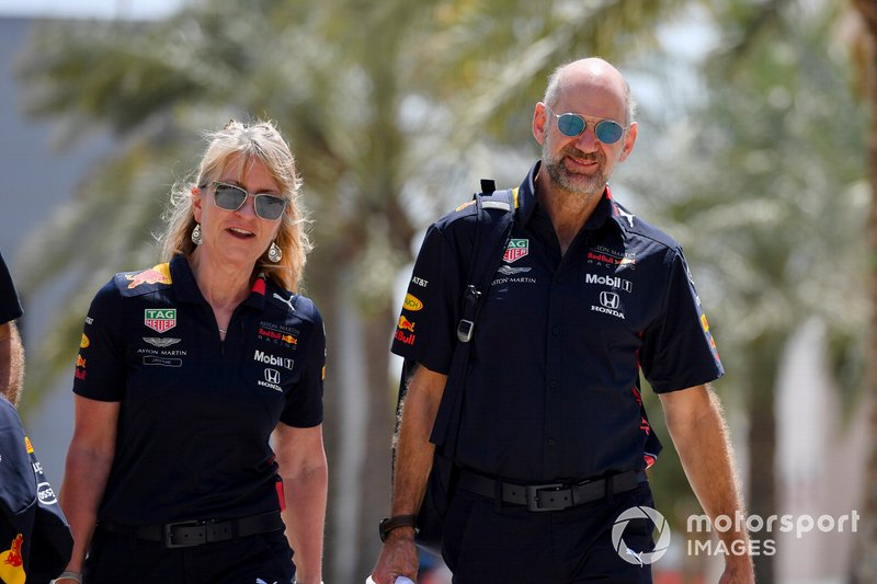 Jayne Poole, HR Director, Red Bull Racing (F1) & Red Bull Technology, and Adrian Newey, Chief Technical Officer, Red Bull Racing