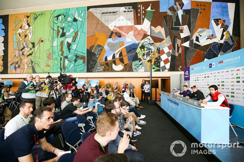 Conferenza stampa con Lucas Di Grassi, Audi Sport ABT Schaeffler, Sébastien Buemi, Nissan e.Dams, Robin Frijns, Envision Virgin Racing, Felipe Massa, Venturi Formula E
