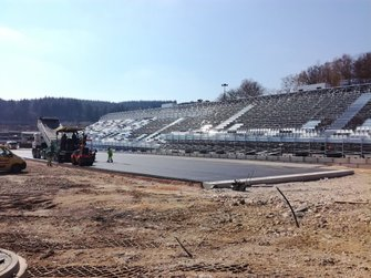 Le circuit de Spa-Francorchamps en travaux