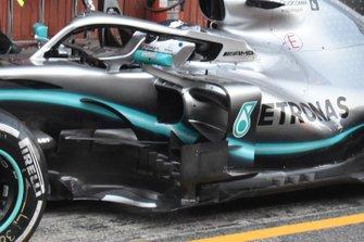 Mercedes AMG F1 W10 detail zijkant