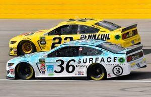Matt Tifft, Front Row Motorsports, Ford Mustang Surface Sunscreen / Tunity, Joey Logano, Team Penske, Ford Mustang Pennzoil