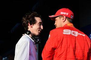 Sebastian Vettel, Ferrari with Pierre Guyonnet-Duperat, Media Delegate at the FIA