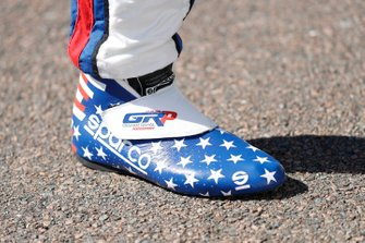 Graham Rahal, Rahal Letterman Lanigan Racing Honda, shoes