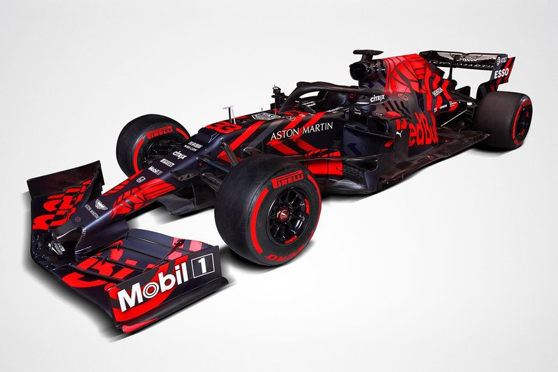 2019: el Red Bull-Honda RB15 en pretemporada