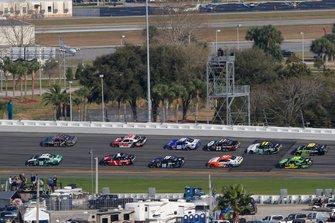 Brandon Jones, Joe Gibbs Racing, Toyota Supra Juniper and Noah Gragson, JR Motorsports, Chevrolet Camaro Switch