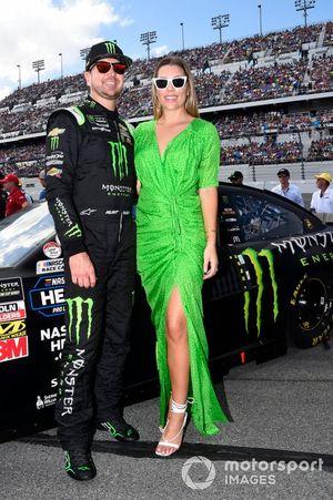 Kurt Busch, Chip Ganassi Racing, Chevrolet Camaro Monster Energy, with wife Ashley