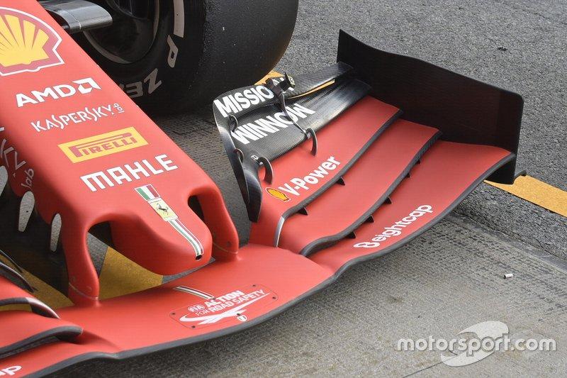 Ferrari, detalle técnico del morro